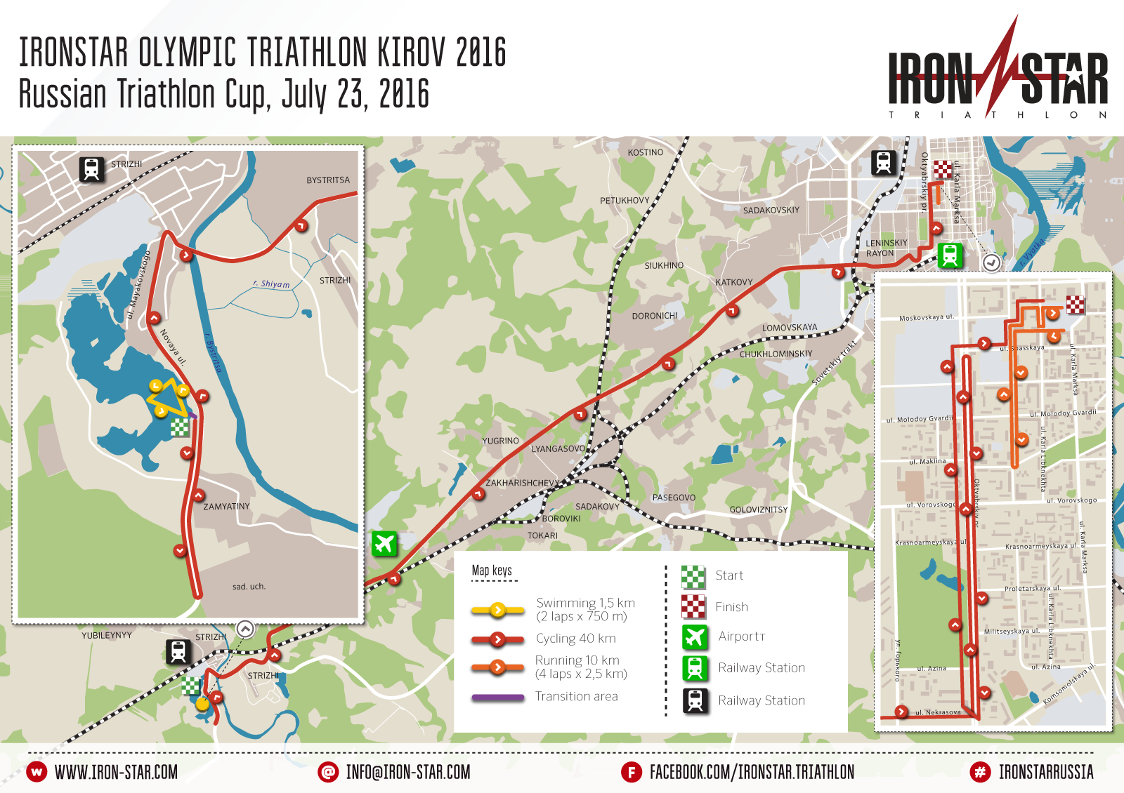 Route of IRONSTAR OLYMPIC KIROV 2016
